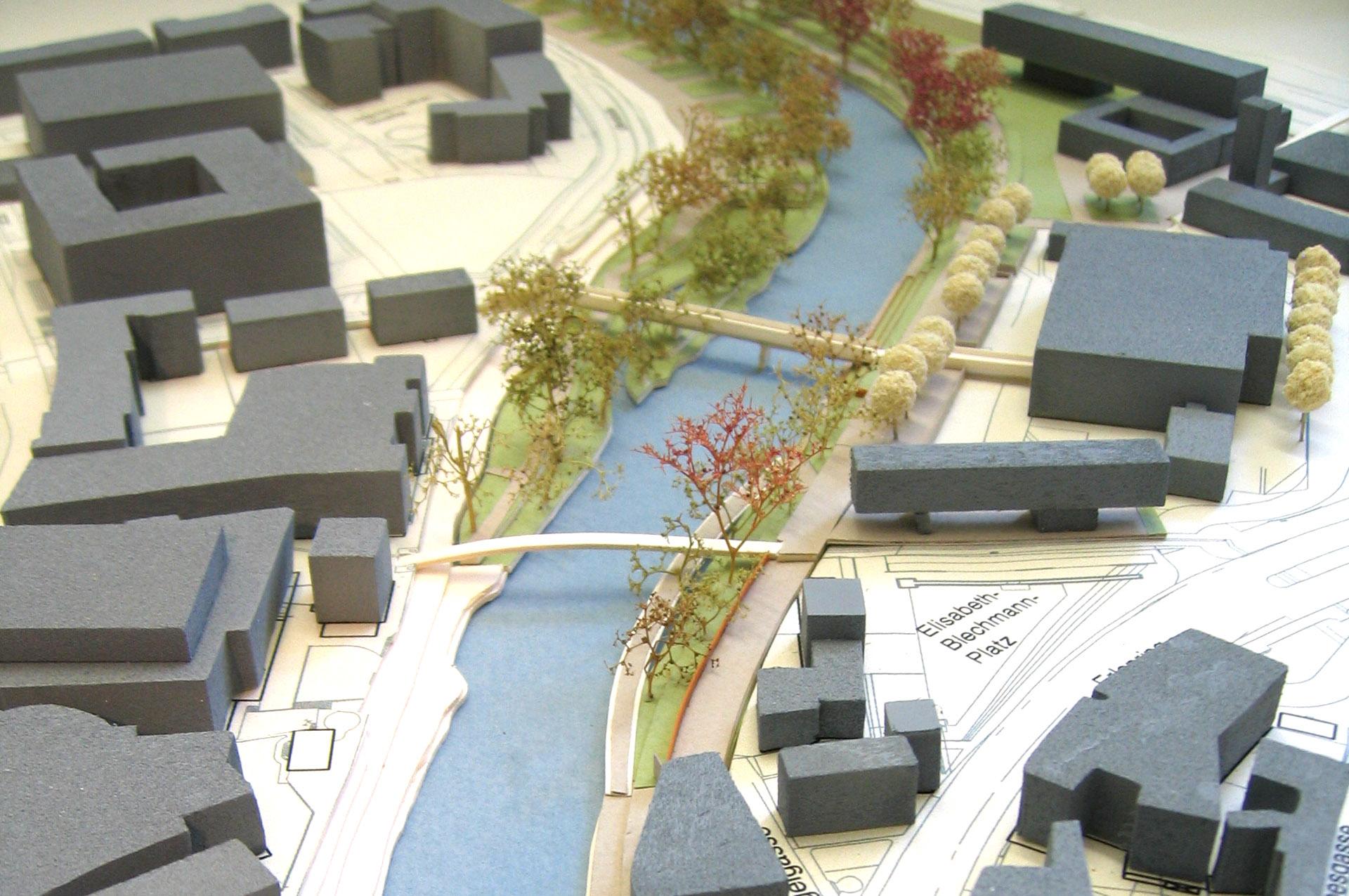 Marburg Lahnufer - Modellfoto