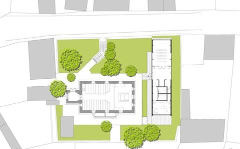 Ev. Gemeindehaus Dolgesheim Freiflächenplan