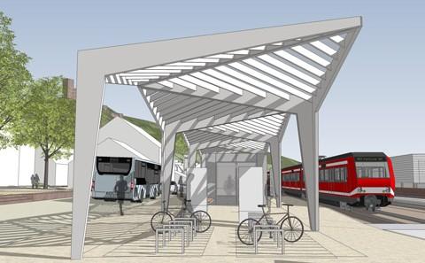 Stadtprozelten Bahnhof Visualisierung Überdachung