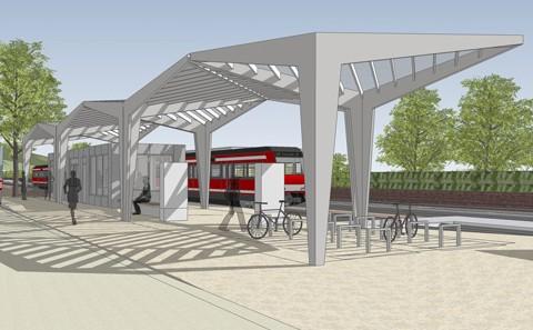 Stadtprozelten Bahnhof Visualisierung Bahnsteig