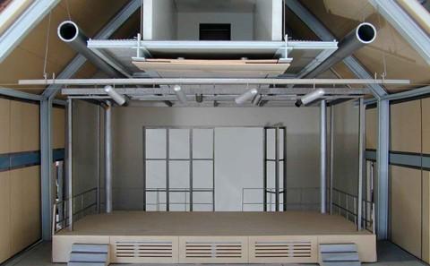 Sulzbach Bürgerzentrum Modell Bühne