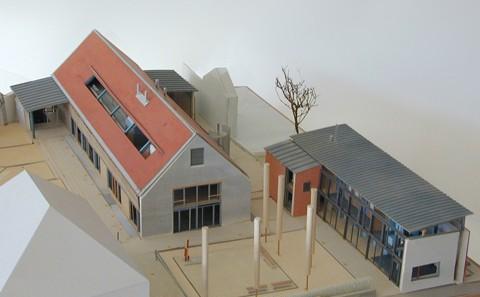 Sulzbach Bürgerzentrum Modell Vogelperspektive